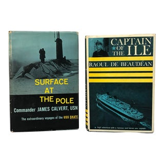 Vintage Nautical Books - Pair For Sale