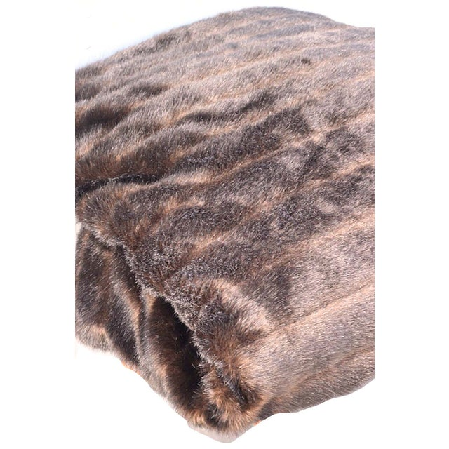 Faux-Mink Fur King Coverlet - Image 2 of 3