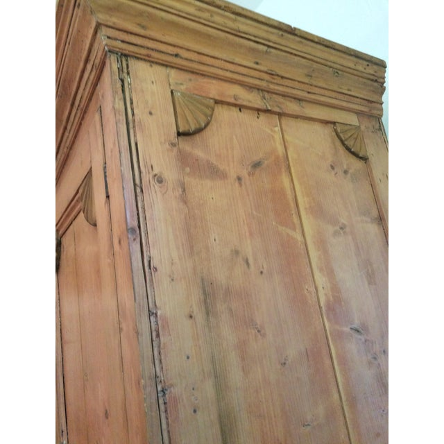 Charming Old Rustic Pine Linen Press Cabinet - Image 9 of 11
