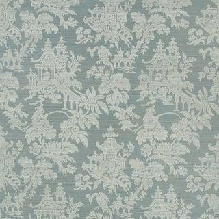 Sample - Schumacher Brighton Sisal Wallpaper in Mineral For Sale