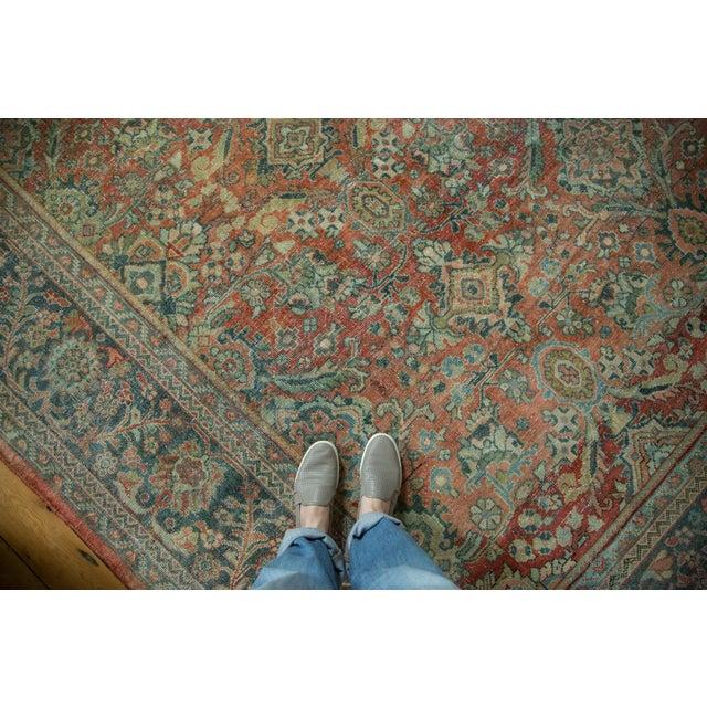 "Vintage Distressed Mahal Carpet - 10'8"" x 13'8"" - Image 3 of 10"