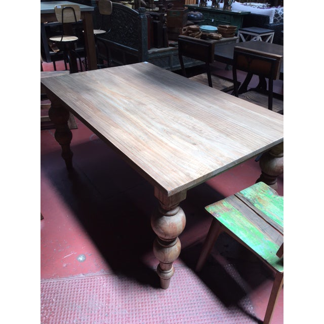 Reclaimed Ball Leg Table For Sale - Image 5 of 6