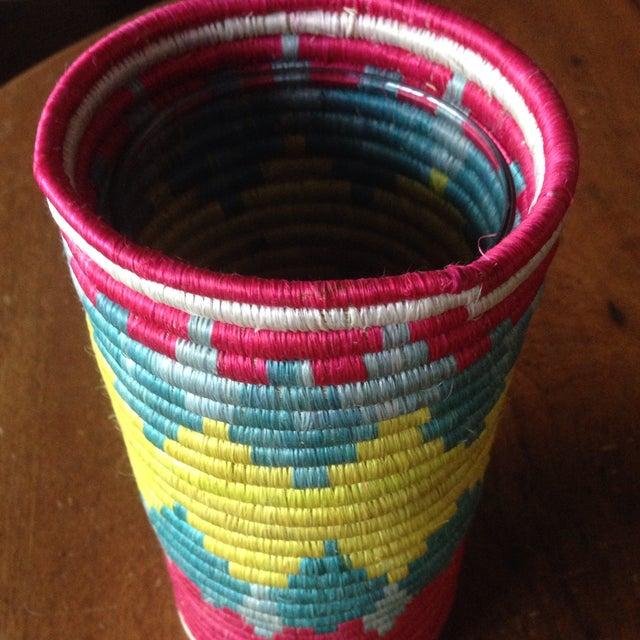 Vintage Moroccan Straw Floral Vase - Image 8 of 11
