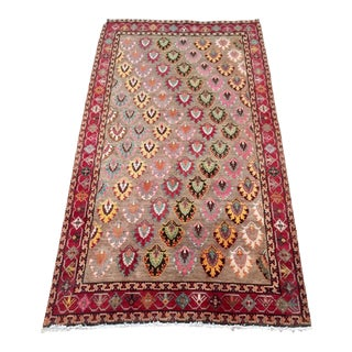 1970s Vintage Persian Qashqai Rug - 5′3″ × 9′3″ For Sale