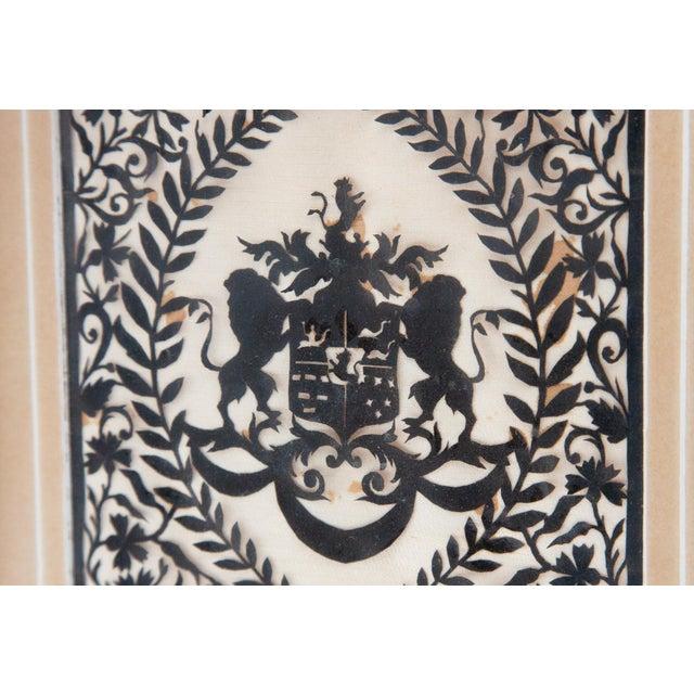 Framed Handcut Heraldic Shield Design For Sale - Image 4 of 7
