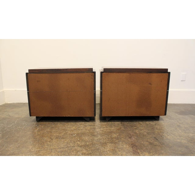 Mosaic Pair of 1970s Mid-Century Modern Brutalist Nightstands by Lane For Sale - Image 7 of 8