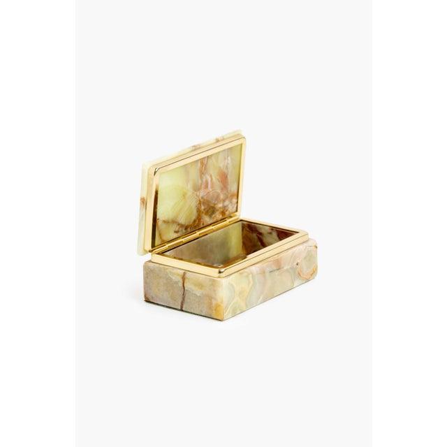 Mori. Green Marbled Mineral Box. Dimensions: Height 50mm Depth 135mm Width 95mm