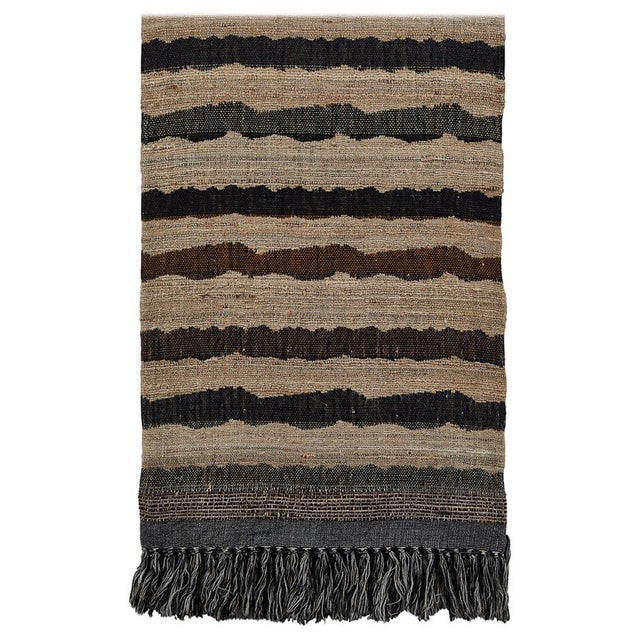 Indian Handwoven Throw Ocean Stripe For Sale In Los Angeles - Image 6 of 6