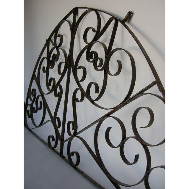 Large Scale Decorative Iron Architectural Arch For Sale - Image 4 of 10