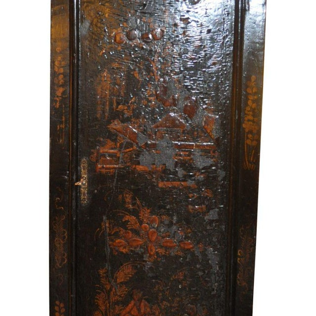19th Century English Chinoiserie Case Clock For Sale - Image 5 of 5