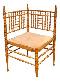 Image of Faux Bamboo Corner Chairs