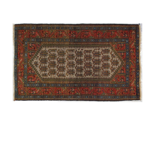"Antique Persian Bakhshayeh, 4' x 2'6"" For Sale"