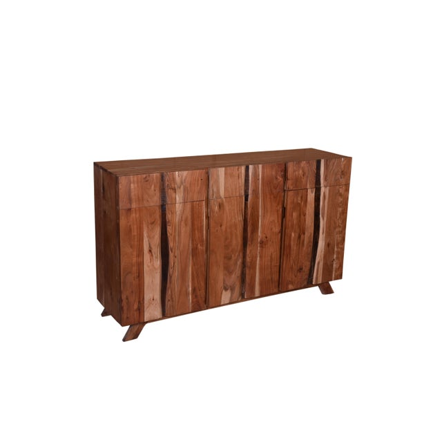 Baxter Three Drawer Acacia Wood Storage Sideboard For Sale - Image 4 of 9
