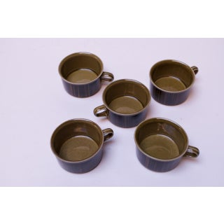 """Set of Five Arabia of Finland """"Kosmos"""" Porcelain Tea / Coffee Cups Preview"""