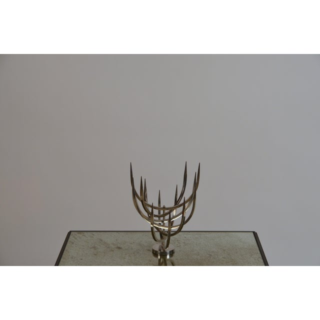 Polished Stainless Steel Candle Tree by Xavier Feal For Sale - Image 4 of 9