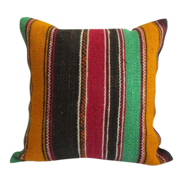 Striped Turkish Kilim Pillow Cover For Sale