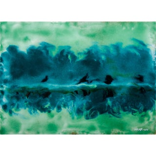 Untitled XIV by Ming Chiao Kuo, Enamel on Copper, Framed