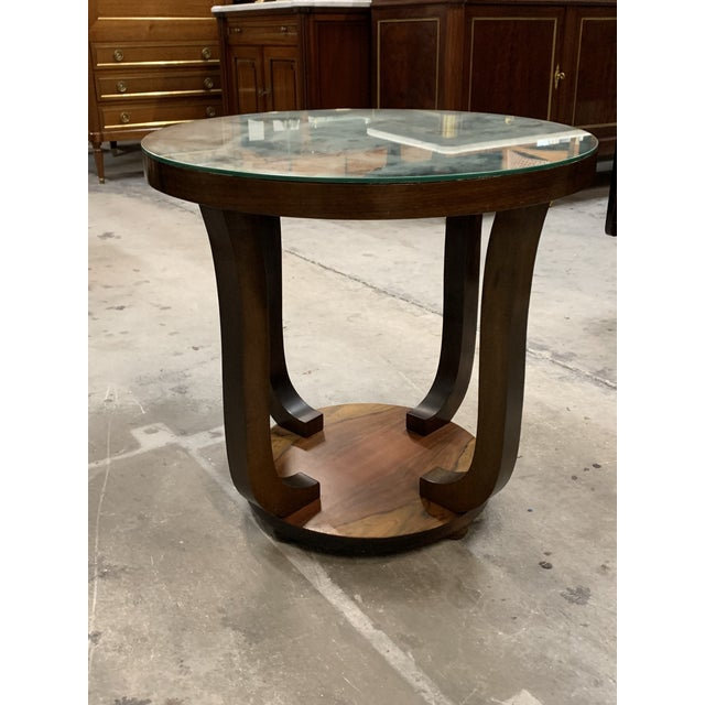 Wood 1940s Vintage French Art Deco ''Tulip'' Macassar Coffee Table or Side Table For Sale - Image 7 of 13