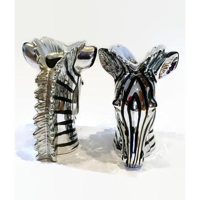 Vintage Fitz Floyd Metallic Zebra Vases A Pair Chairish
