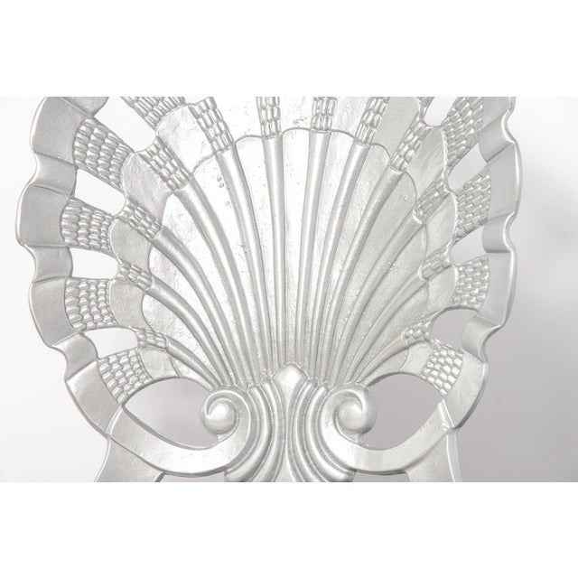 Vintage Set of 4 Grotto Aluminum Chairs For Sale - Image 11 of 13