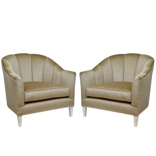 Lounge Chairs in Luxurious Mohair - A Pair For Sale