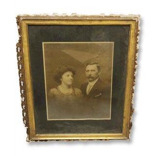 Vintage Framed Husband & Wife Portrait Photo Preview