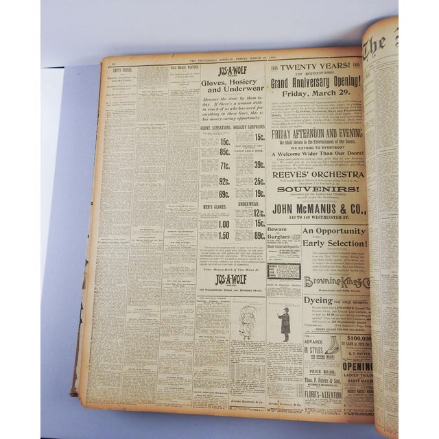 1895 Providence R.I. Bound Newspapers For Sale - Image 5 of 11