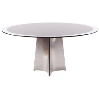 Luigi Saccardo Round Dining Table for Maison Jansen, 1970s For Sale