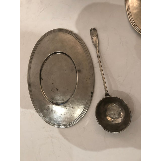 Handsome Arte Italica Pewter Soup Tureen and Ladle For Sale - Image 4 of 9