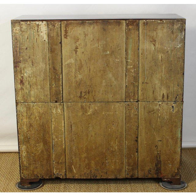 Brass English Rosewood Campaign Chest of Drawers For Sale - Image 7 of 13