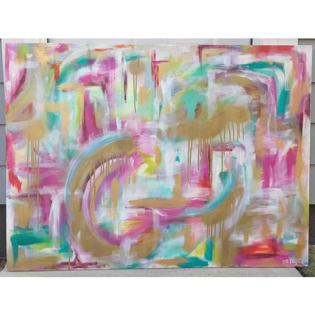 "2010s Christina Longoria ""Just Like Heaven"" Abstract Painting For Sale - Image 5 of 5"