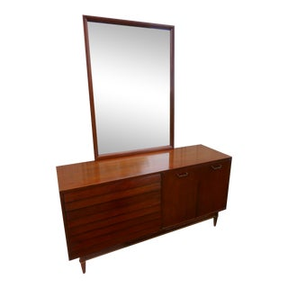 1960's American of Martinsville Dania Dresser With Mirror by Merton Gershun For Sale