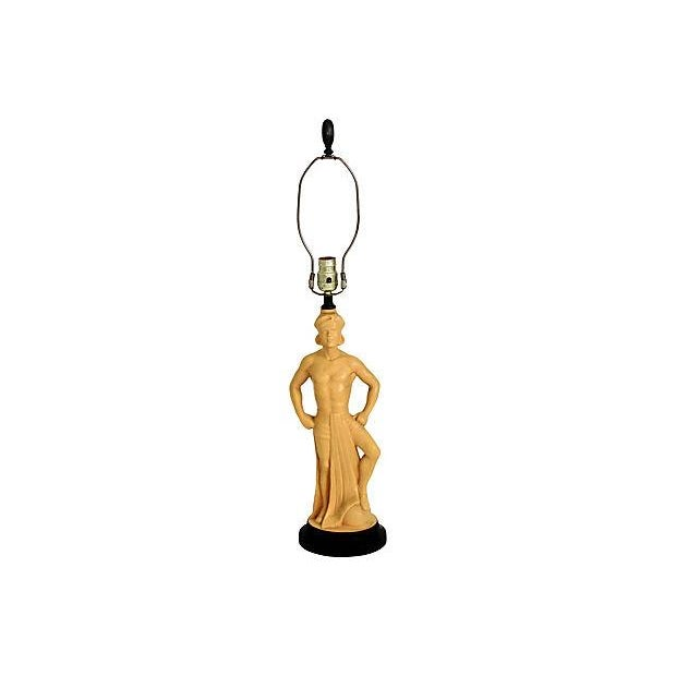 1950s Male Figure Lamp - Image 6 of 6