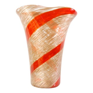Dino Martens for Aureliano Toso Murano Art Glass Vase For Sale