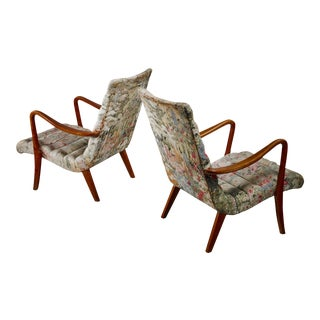 Pair of Axel Larsson Lounge Chairs, Bodafors, Sweden, 1940s For Sale