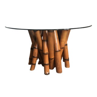 """Sculptural Bamboo Dining Table by Antonio """"Budji"""" Layug For Sale"""