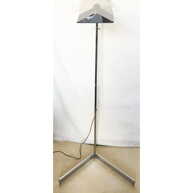 1970s Cedric Hartman Signed Chrome Floor Lamp For Sale - Image 9 of 9