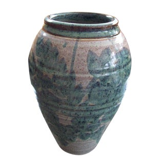 Early 20th Century Vintage Scandinavian Floral Vase