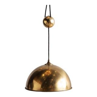 Florian Schulz Brass Counterweight Pendant Light For Sale