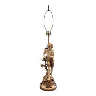 Vintage L&f Moreau Figural Lamp For Sale