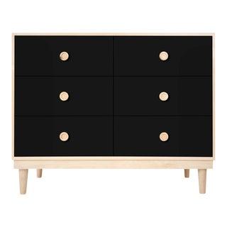 Nico & Yeye Lukka Modern Kids 6 Drawer Dresser Maple Black For Sale