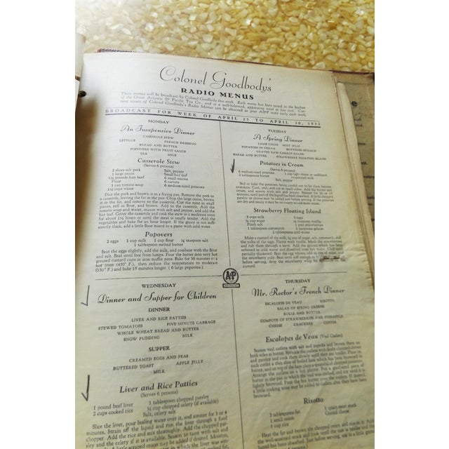 1930s Leather Bound Grocery Store Cookbook - Image 7 of 9