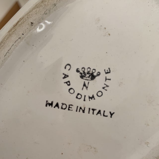 White Italian White Porcelain Swan Vases - a Pair For Sale - Image 8 of 10