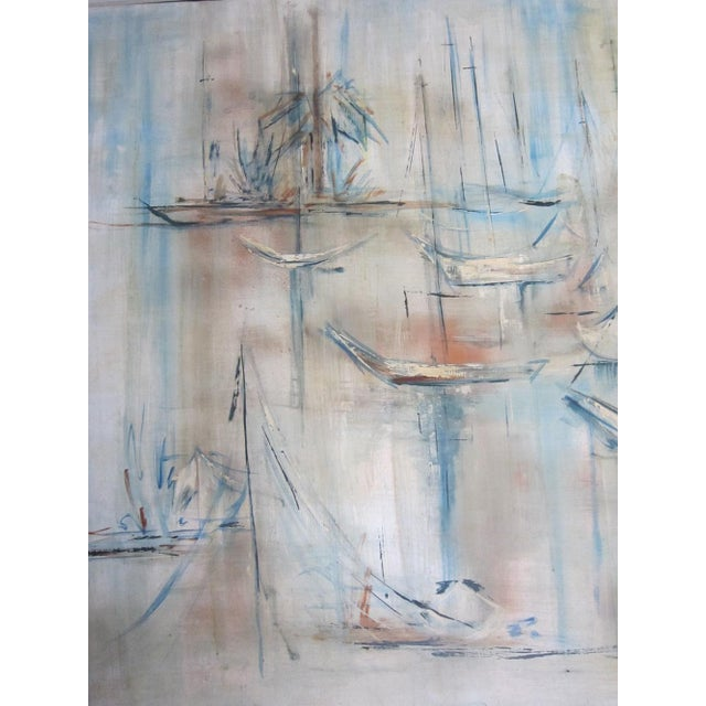 Mid-Century Abstract Nautical Painting - Image 3 of 6