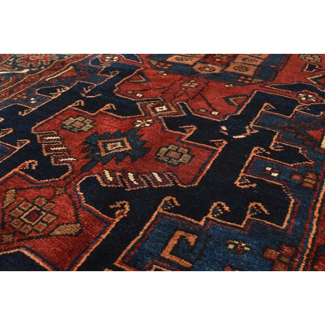 1990s Vintage Persian Hamadan Rug - 4'6'' X 7' For Sale - Image 5 of 13