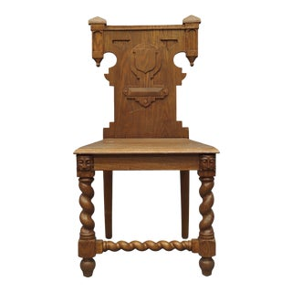 Early 20th Century Vintage Hall Chair For Sale