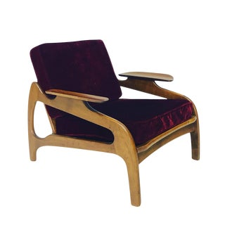 Adrian Pearsall Model 1209c for Craft Associates Lounge Chair For Sale
