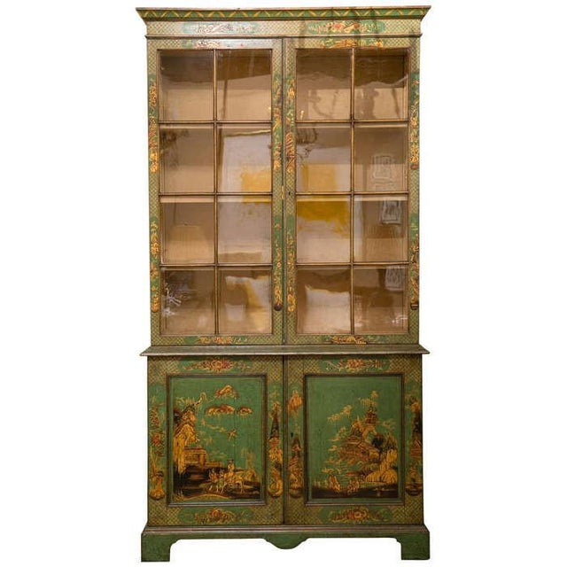 George III Japanned Bookcase For Sale - Image 4 of 4