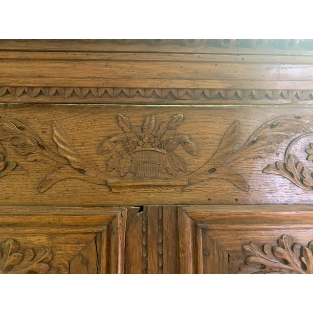 Gold Antique French Oak Double Buffet, Circa 1860 For Sale - Image 8 of 13