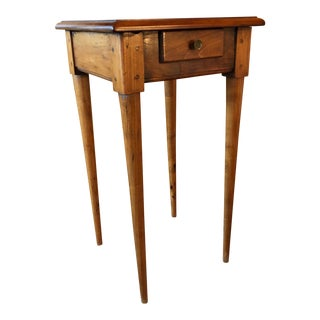 1800 French Fruitwood Petite One Drawer Side Table For Sale